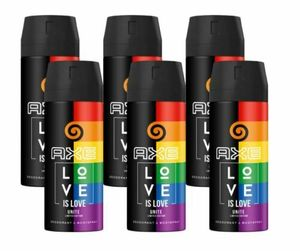 AXE Bodyspray Unite Love is Love 6x 150ml Deo Deospray ohne Aluminium Limited Edition