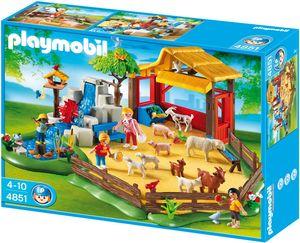 PLAYMOBIL 4851 Streichelzoo Tiere Zoo Wasserfall Viel Zubehör