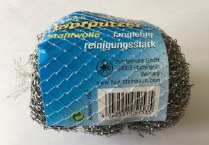 Bürstenmann Topfputzer, Stahlwolle Topfreiniger, 3er Packung, Ø 8cm