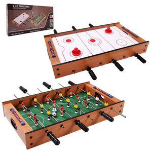 GOPLUS 2-In-1 Tischspiel Set, Mobiles Tischhockey- und Tischfußballspiel, Multifunktionstisch Mini Spieltisch Kickertisch, für Indoor und Outdoor, Geschenk für Kinder Jegendliche und Erwachsene