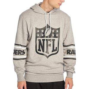 New Era NFL Badge Oakland Raiders Kapuzenpullover Herren Erwachsene grau / schwarz L