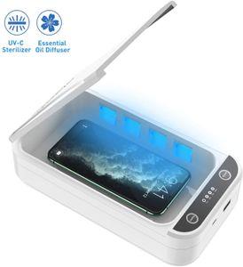 Desinfektionsmittel, UV-Sterilisator Sterilisation, Sterilisationsbox, geeignet für iPhone, Android, Mobiltelefone, Make-up-Pinsel, weiß