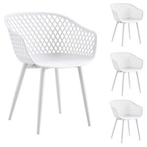 Esszimmerstuhl MADEIRA im 4er Set in weiß/weiß