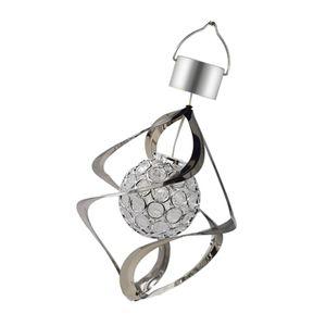 Windspinner Windspiel Spiral Schweif Solarleuchte mit Farbwechsel Kristall Kugel Für Innen- / Außenbereich