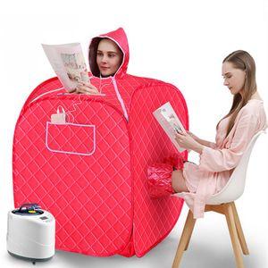 MECO 2L Dampfsauna Dampfer Heimsauna Saunakabine Sitzsauna Mobile Sitzsauna Wärmekabine Sauna-Box Zuhause Saunabox