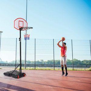 GOPLUS Basketballkorb Basketballständer Basketballanlage auf Rädern für Kinder und Jugendliche höhenverstellbar 179 bis 208 cm