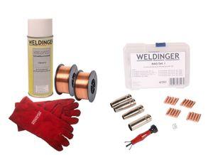 WELDINGER MIG/MAG-Einsteigerset ME 160 eco Schweißinverter Schweißwagen eco Druckregler mini MAGSet Basic