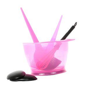 Haarfärbeset Highlight Comb Bowl Coloring Tools Farbe Rosa
