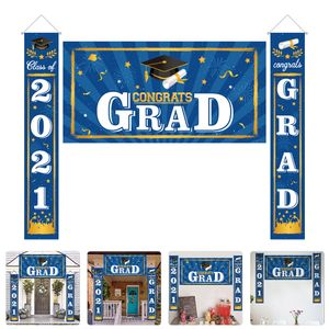 1 Set 3 Stück Graduation Couplet Party dekorative Banner Tür Banner Graduation Dekor