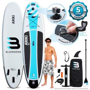 """SUP Board ARIKI - aufblasbar mit Paddel Pumpe Rucksack - 3 Größen + für Kinder (10'8"""" / 325x86x15 cm)"""