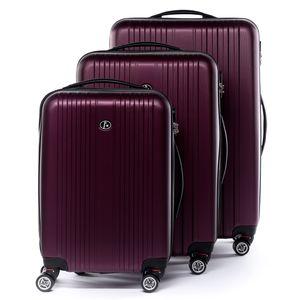 FERGÉ 3er Kofferset TOULOUSE ABS Dure-Flex Burgundrot 3er Hartschalenkoffer Roll-Koffer 4 Rollen Kofferset Hartschale 3-teilig