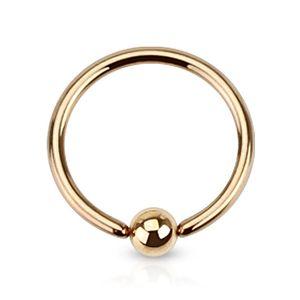 Klemmring BCR Septum Piercing Captive Ring Lippe Ohr Augenbrauen Nase Brustwarze rosegold 1,6 mm 12 mm