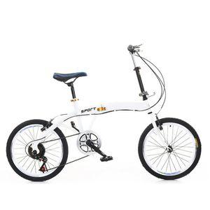 20 Zoll Fahrrad Cityrader Klappfahrrad Faltrad Klapprad Jungenfahrraf 7 Gang Fahrrad Doppel V Bremse Weiß