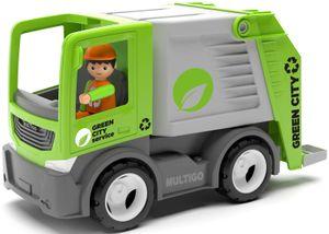 Multigo Müllwagen LKW Lastwagen mit Spielfigur Mülltonne Müllabfuhr Fahrzeug +3J