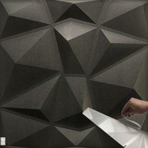 3D Wandpaneele Selbstklebend Deckenpaneele Platten Paneele Wanddeko Wandtattoos Polystyrol Material (Paket 2qm = 8 Stück)