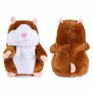 Sprechende Hamster Kuscheltier Plüschtier Spielzeug Talking Maus DJ Rap Toy Hellbraun