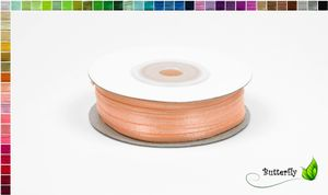 50m Rolle Satinband 3mm, Farbauswahl:apricot 714