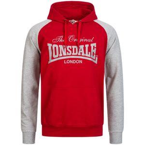 Lonsdale Herren Kapuzenpullover Brundall, Farbe:dark red, Größe:L