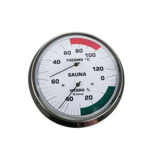 SudoreWell® Sauna Klimamesser Classic mit Thermometer + Hygrometer Ø130mm (4110-F) by Feingerätebau Fischer GmbH