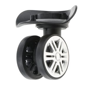 2 Stück Universal Metall 360° Drehbar Lenkrollen Ersatz Rollen Räder Schwenkräder für Gepäck Koffer Reisekoffer Hartschalenkoffer