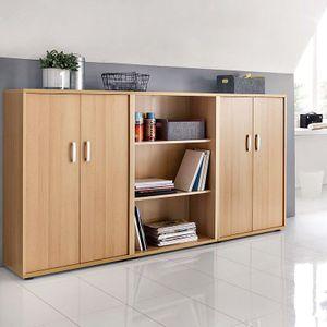 Büromöbel Aktenschrank & -regal Set TYP1900, Samerberg-Buche Nachbildung (3-teilig)