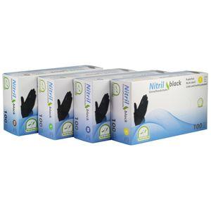 MEDI-INN Nitril-Handschuhe black, Größen:L