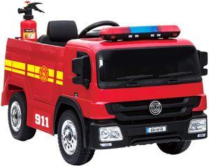 Feuerwehr Kinderauto Feuerwehrauto Firetruck Kinderfahrzeug Kinder Elektroauto inkl. Feuerwehrmann Ausrüstung
