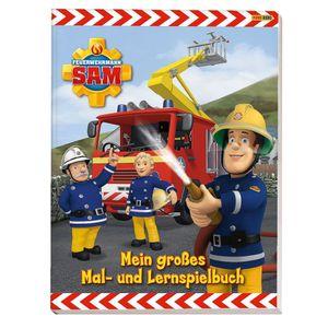 Feuerwehrmann Sam - Großes Mal- und Lernspielbuch