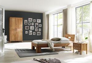 Schlafzimmer Set Einzelbett Schrank Jugendzimmer komplett Kernbuche massiv geölt
