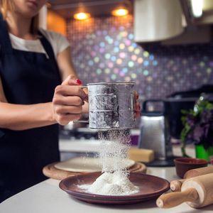 Edelstahl Mehlsie mit Griff Handgehaltener für feinem Netz Küchensiebfür Mehl und Puderzucker