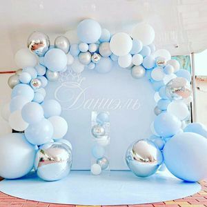 141pcs Ballon Girlande Bogen Kit Blau Latex Hochzeit Geburtstag Junge Mädchen Party Nachbildung Macaron Blue Ocean Set Ballon