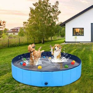 Hundepool Planschbecken Kinderpool Baby Hundebad 100 cm, Farbe:Blau, Maße:100 x 30 cm