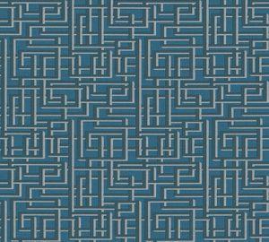 A.S. Création Vliestapete Palila Tapete blau grau metallic 10,05 m x 0,53 m 363125 36312-5