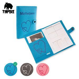 Mutterpasshülle mit Verschluss für deutschen Mutterpass, mit Tasche für Ultraschallbilder/Impfpass