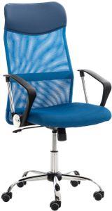 CLP Bürostuhl Washington höhenverstellbarer, drehbare und mit Leichtlaufrollen, Farbe:blau