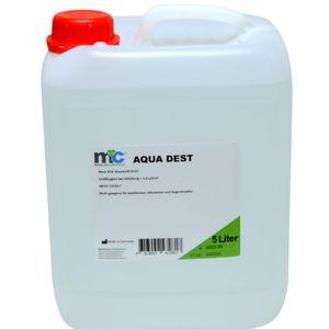 Medicalcorner24 Destilliertes Wasser AQUA DEST, unsteril und mikrofiltriert, 5 Liter