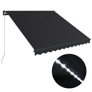 vidaXL Einziehbare Markise mit LED Handbetrieben 300x250 cm Anthrazit