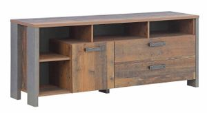 Lowboard Unterkommode CLIF 161 cm Optik: Old Wood Vintage von Forte