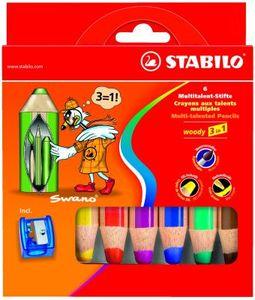 Happy Kidz Farbstifte Stabilo Woody 6er Set mit Spitzer 21404156059