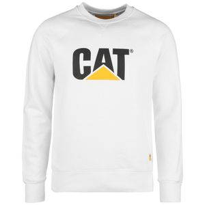 Caterpillar CAT Logo Roundneck Sweatshirt Herren Erwachsene weiß L