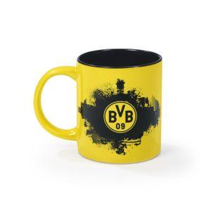 Kaffee Becher Tasse Pott BVB Borussia Dortmund Fanartikel 350 ml schwarz gelb