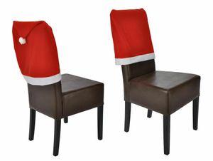 2er Set Stuhlhusse Mütze Stuhlabdeckung Hussen für Stühle Mützen rot Stuhlhussen