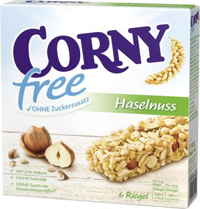 Corny Müsli Riegel Free Haselnuss (6 x 20 g)