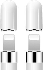 Pencil Kappe, 2 Stück iPencil Magnetische Ersatzkappe für Apple Pencil Verwenden Sie für Backup Schutzdeckel Schützen Sie Ladeport Weiß