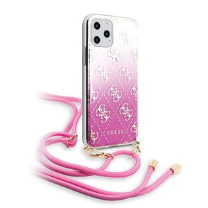 Guess 4G Electroplated Gradient mit Kordel für Apple iPhone 11 Pro - Pink