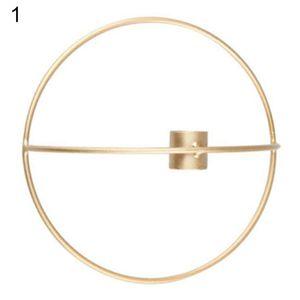 Geometrischer Kerzenhalter Wandkerzenhalter passend Teelicht Wandleuchte Home Decor Golden 19cm