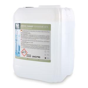 2 x 10 Liter Essigsäure 60% in Kanistern