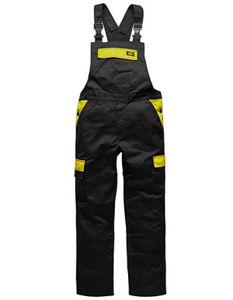 Herren Everyday Latzhose - Farbe: Black/Yellow - Größe: 52