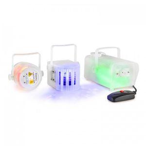 CLEAR-PACK Lichteffekt-Set Firefly-Laser Derby-Effekt 400W Nebelmaschine