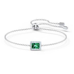 Swarovski Armband 5559836 Angelic Rectangular, grün, rhodiniert